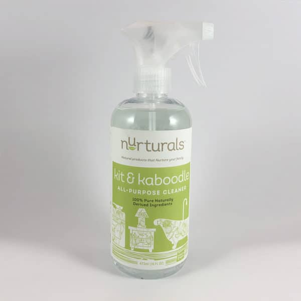 Nurturals Kit & Kaboodle All Purpose Cleaner Made in Oregon. Non toxic, eco friendly disinfecting kitchen cleaner spray made by My Nurturals in Portland, OR