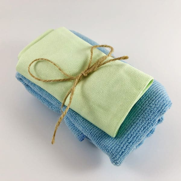 Professional Antimicrobial Microfiber Glass Cleaning Cloth Set