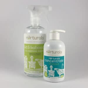 Nurturals non-toxic Basic Clean Set. Made in Redmond, Oregon.