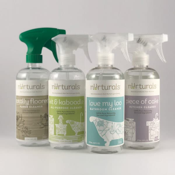 Nurturals non-toxic cleaners gift set. Made in Oregon.