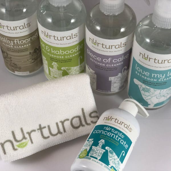 Nurturals non-toxic cleaners starter set. Made in Oregon.