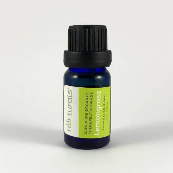 Nurturals Organic Therapeutic Grade Lemongrass Essential Oil for House Cleaning
